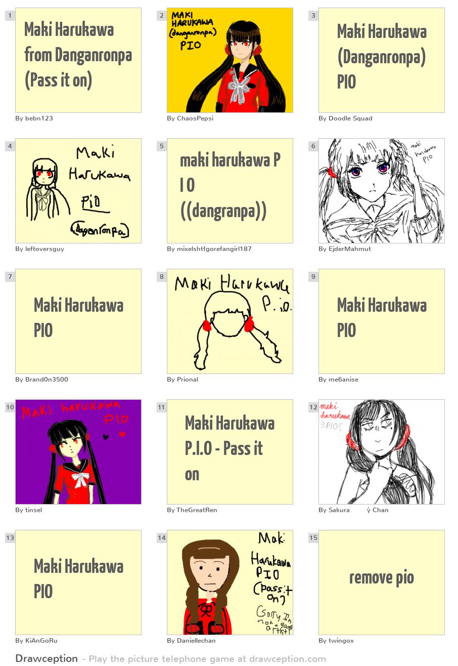 Maki Harukawa from Danganronpa (Pass it on) - Drawception