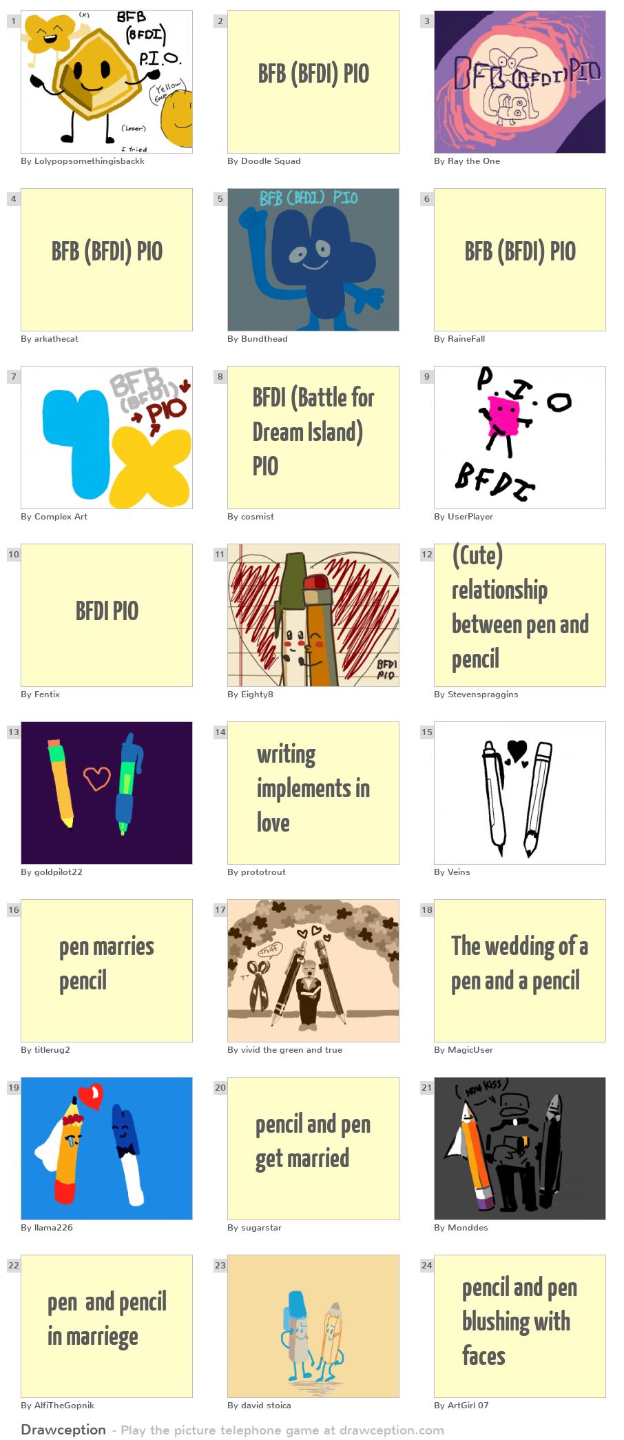 BFB (BFDI) PIO - Drawception