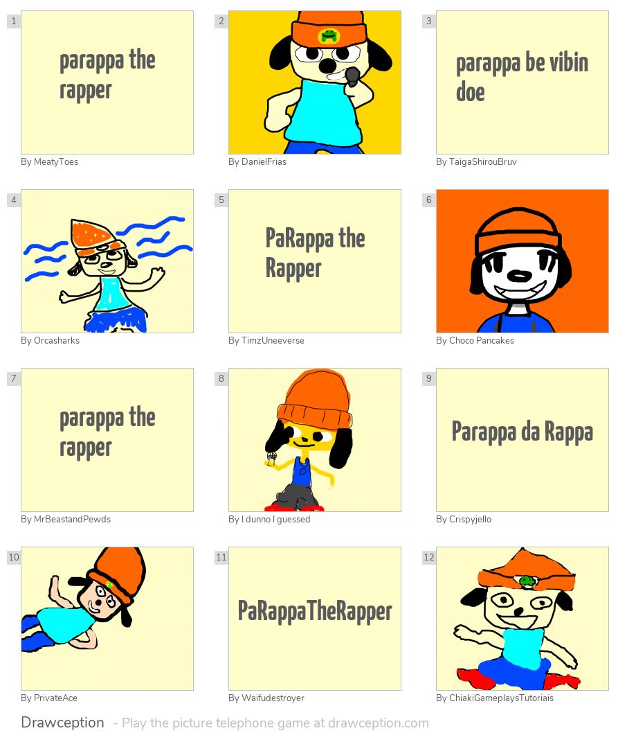 parappa the rapper - Drawception