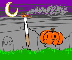 The Great Pumpkin and the Marlboro Man!