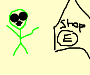 Alien finds electronic store that serves