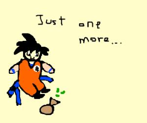 Goku has widened noticeably