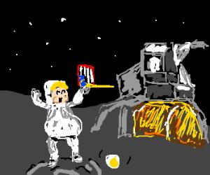 Plump, dim astronaut