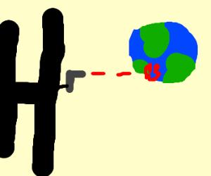 big H shoots earth