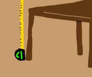 Measuring table height