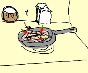 A Thai kitchen