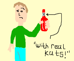 dude with Chinese ketchup