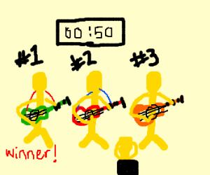 Speed guitar contest