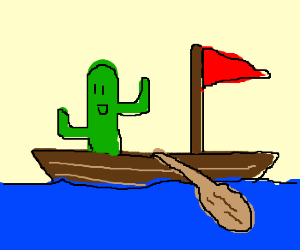 cactus on a boat