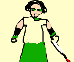 Blind angry girl, Toph maybe?