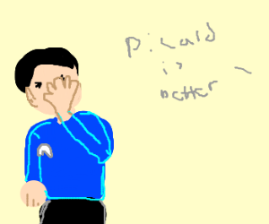 "spock facepalms at ""picard is better"""