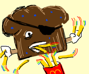 TroubleMuffin eats Rainbowfries