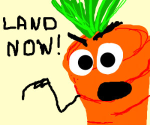 Carrotman forces you to land!!