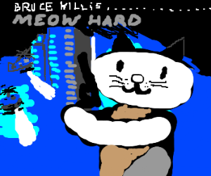 Die-Hard re-enacted by cats