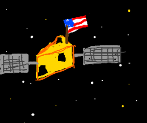 American cheese satellite