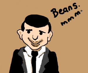 Mr. Bean is hungry for beans!