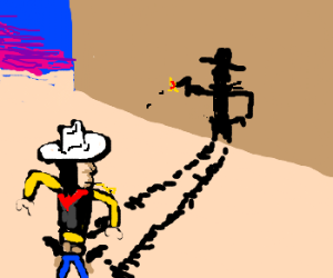 Lucky Luke ISN´T faster than his shadow