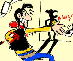 (fake) Lucky Luke slower than his shadow