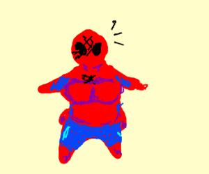 if spiderman was a girl rh drawception com Fat Venom Fat Batman