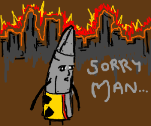 Nuclear warhead is apologetic
