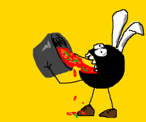 giant fly, swallows entire pot of chili!