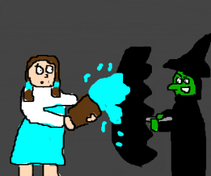 Umbrella protects wicked witch