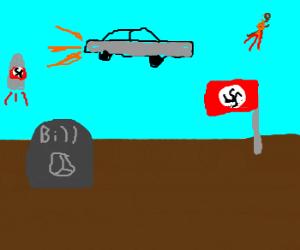 Hippie Bill buried in future Third Reich