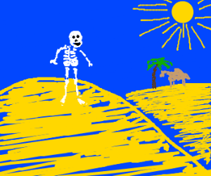 Skeleton in the Blazing Desert