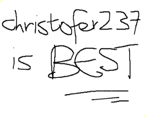 Christopher2732 is lazy and should draw