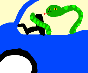 Car Driving Games >> Red Animal using a Vehicle - Drawception