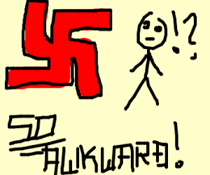people feel awkward around hitler