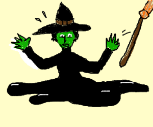 Wicked Witch Of The West Melts Drawing By Elincello Drawception