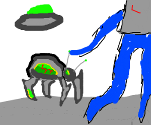 Alien sets up a bug-looking timebomb