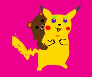 Pikachu on valentine's day