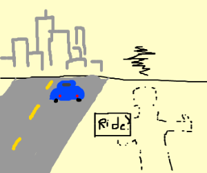 invisible hitchhiker is frustrated