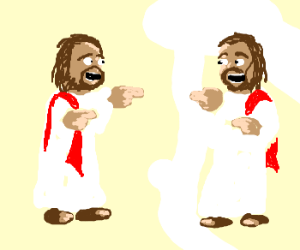 Jesus thinks he's a fine lookin' fellow