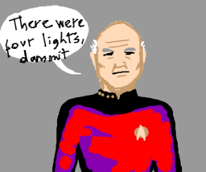 Picard says there were 4 lights dammit