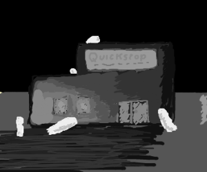 Ghosts Haunt the Quick Stop at Night