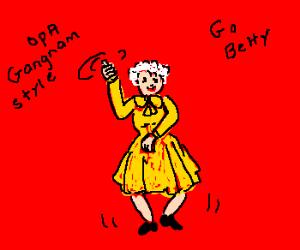 Betty White Dancing