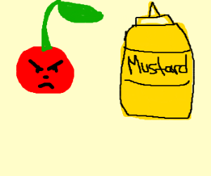 cherry is angry at mustard