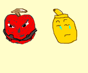 cherry upset at mustard