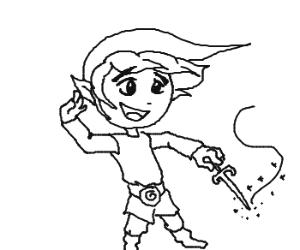 'The Legend of Zelda: Windwaker' Link.
