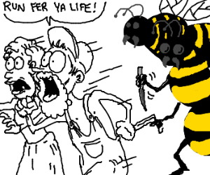 Redneck Couple Attacked by Killer Bees