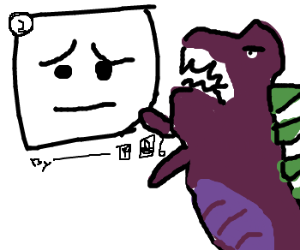 Dinosaur is angry at Panel 2