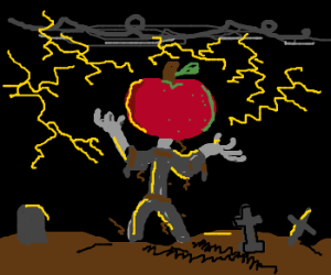 Applehead resurrected with thunder aura