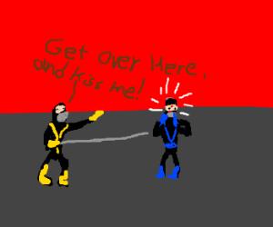 Scorpion declares his love for Sub Zero