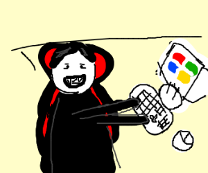dracula is happy about Windows