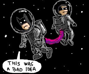 batman in outer space