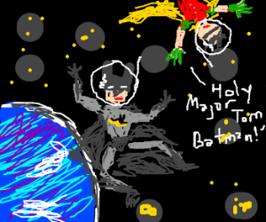 Batman and Robin in space