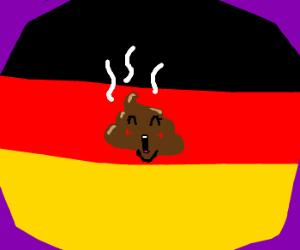 Angela Merkel is making poo